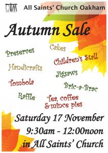 All Saints Autumn Sale @ All Saints Oakham
