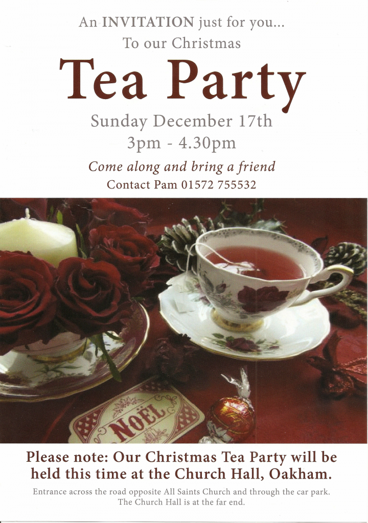 Christmas Tea Party @ All Saints Oakham Church Hall   Oakham   United Kingdom