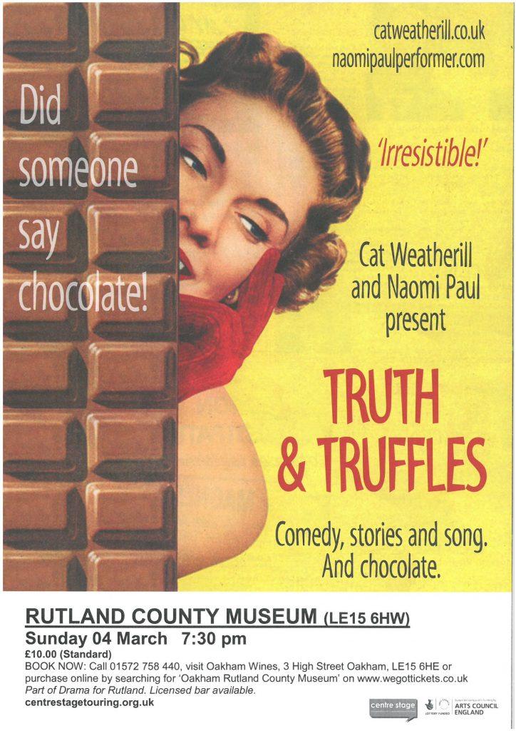 Drama for Rutland - Truth & Truffles @ Rutland County Museum | Oakham | United Kingdom