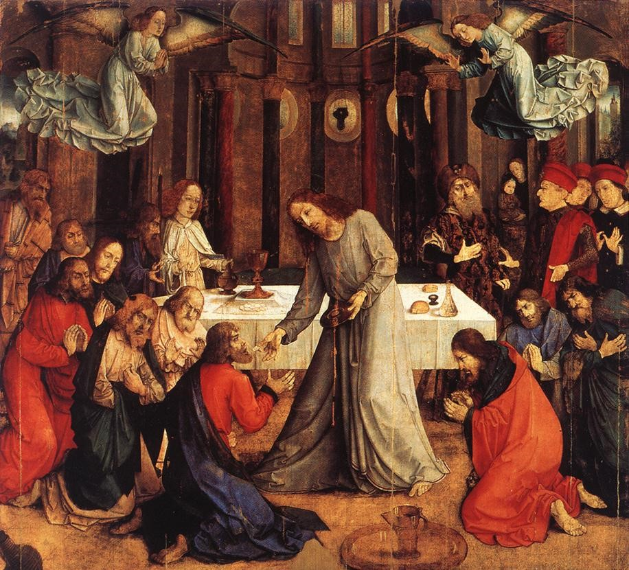 Joos van Ghent, Institution of the Eucharist Flemish, 1473-1475 Urbino, Galeria Nazionaledelle Marche