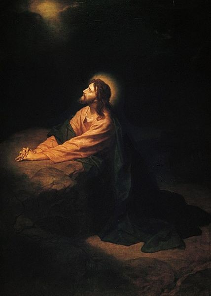 Jesus praying to God the Father in Gethsemane Heinrick Hofman 1890