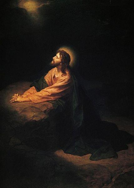 Jesus praying to God the Father in Gethsemane Heinrick Hofman 1890