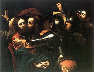 The Taking of Christ by Caravaggioc 1602
