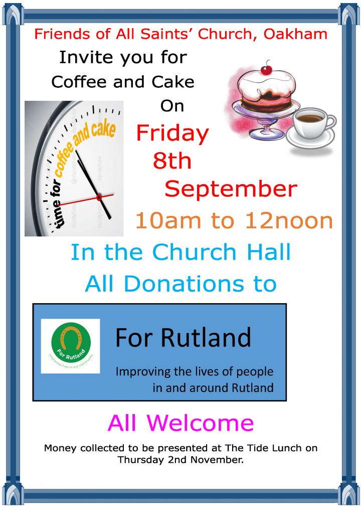 Friends' Coffee & Cake Morning @ All Saints Oakham Church Hall | Bury Saint Edmunds | England | United Kingdom