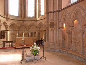 His tomb, Lincoln Cathedral