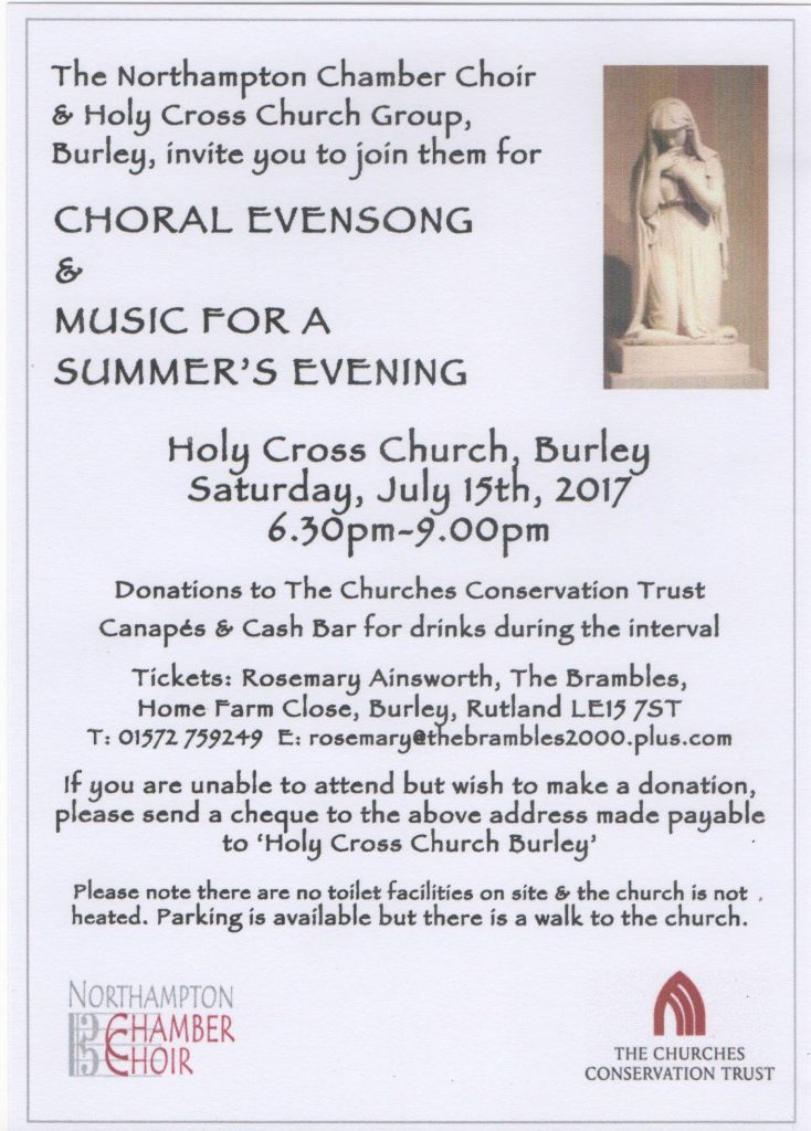 Choral Evensong & Music for a Summer's Evening @ Holy Cross Church, Burley | Cour D'Honneur | England | United Kingdom