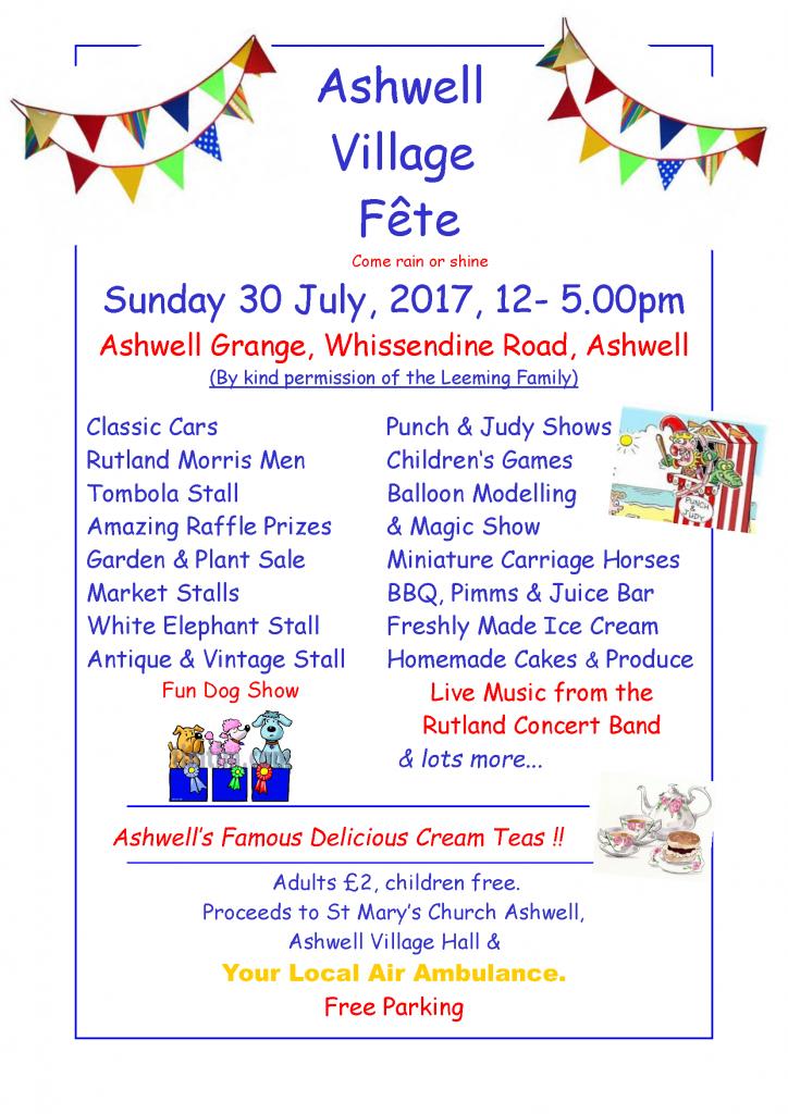 Ashwell Village Fete & Dog Show @ Ashwell Grange   Ashwell   England   United Kingdom