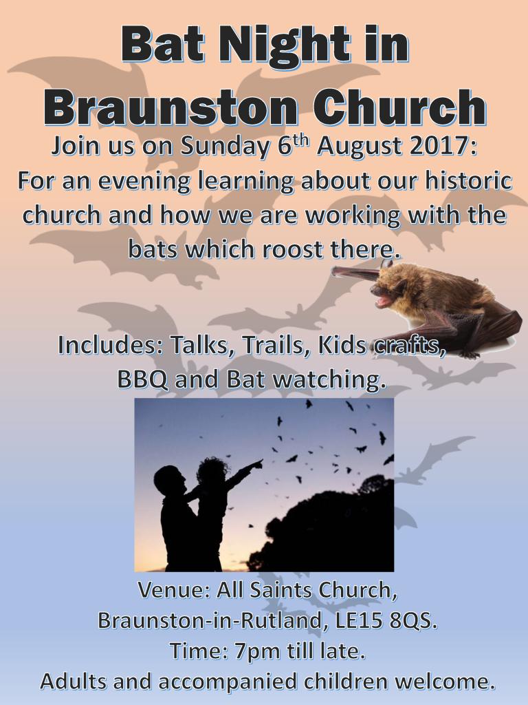 Braunston Bat Night @ All Saints Braunston
