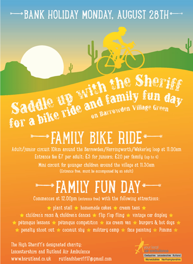 High Sheriff's Bike Ride & Family Fun Day @ Barrowden Green | Barrowden | England | United Kingdom