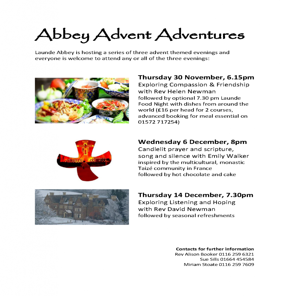 Abbey Advent Adventures @ Launde Abbey