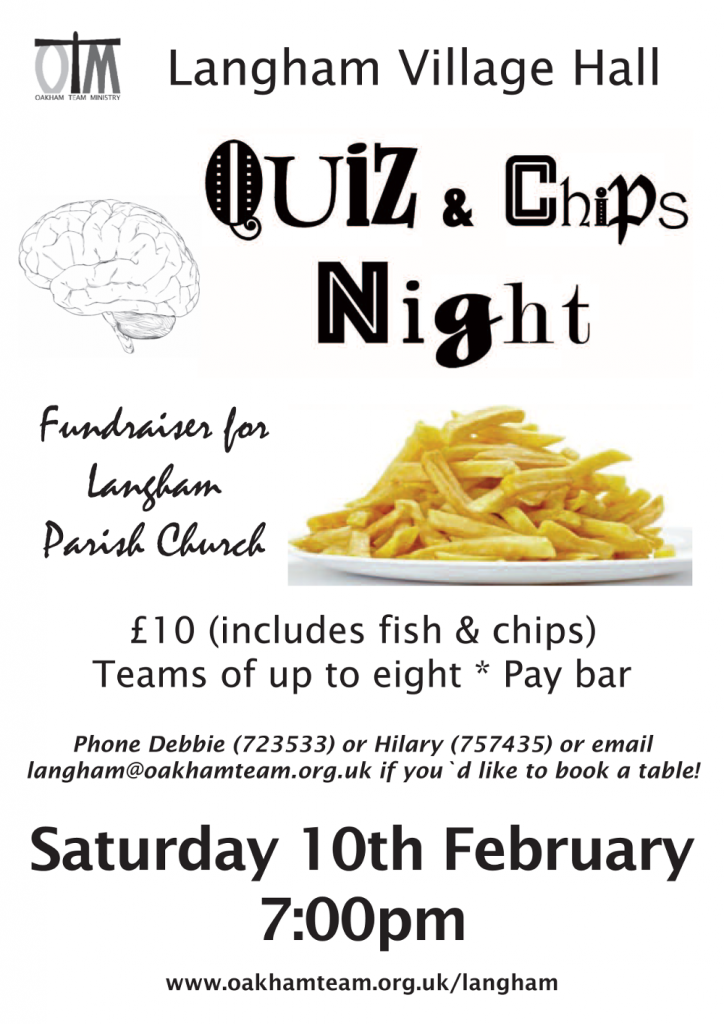Quiz and Chips @ Langham Village Hall | Langham | England | United Kingdom