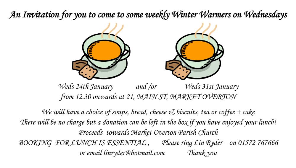 Winter Warmer Lunch @ 21 Main Street, Market Overton | Market Overton | England | United Kingdom